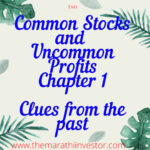 Common Stocks and Uncommon Profits: chapter 1