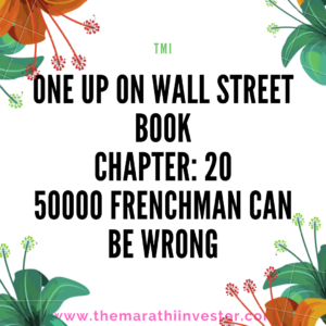 One Up On Wall Street: Chapter 20