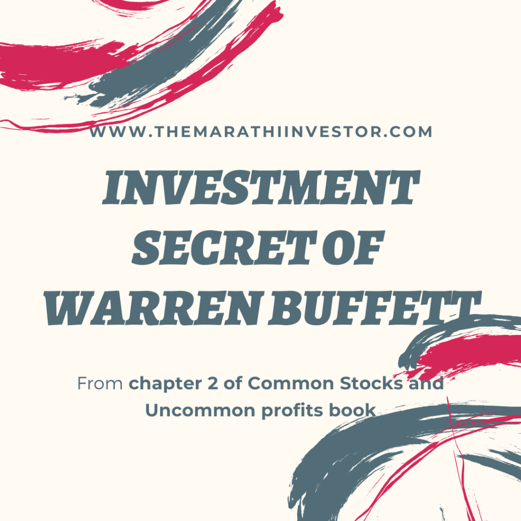 Investment Secret of Warren buffet