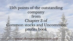 15th points of the outstanding company