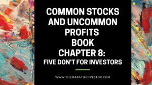 Common stocks and uncommon profits book