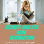 Security Analysis book introduction