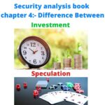 Difference between investment and speculation