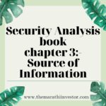 Annual Reports of the Company: security Analysis